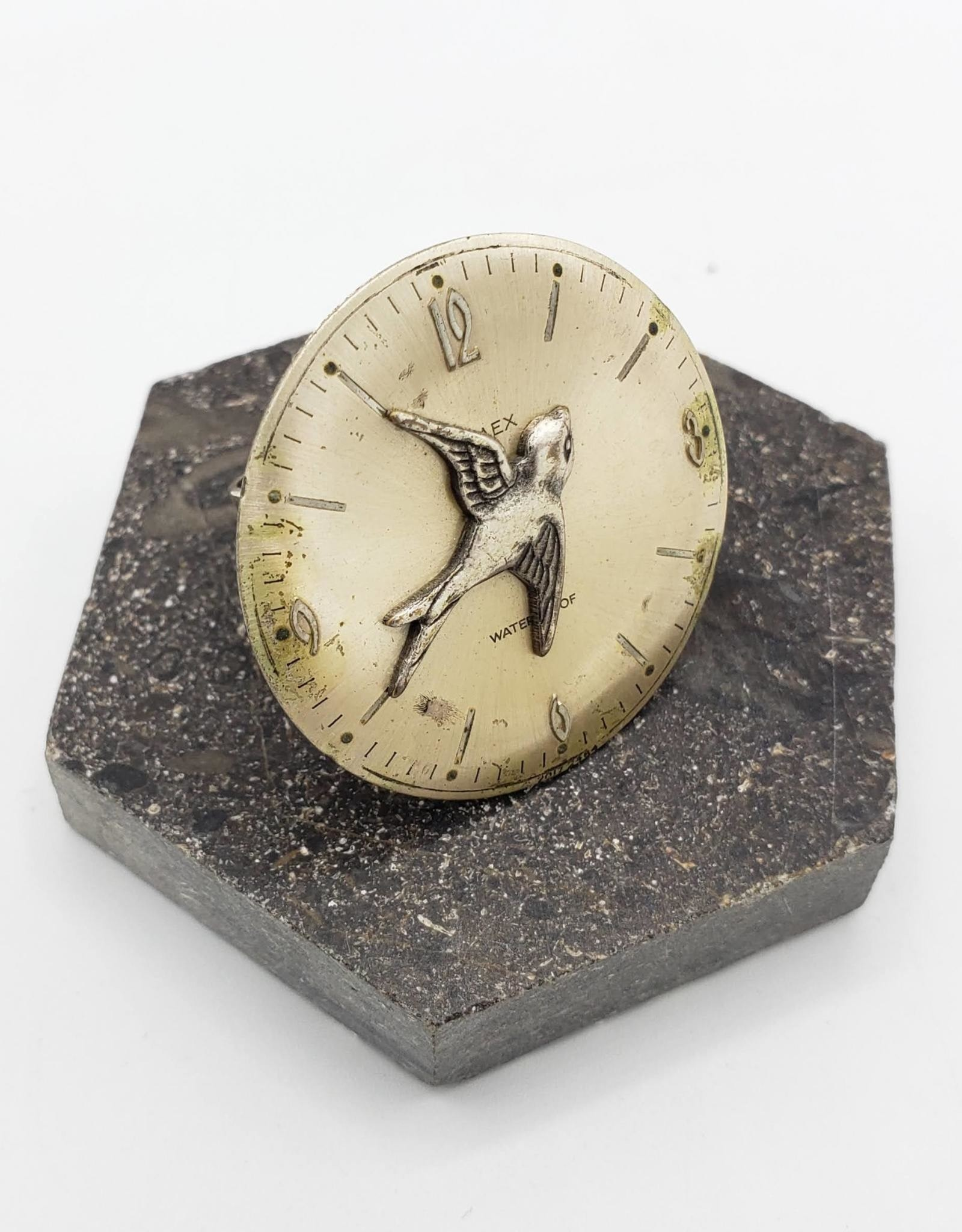 Time Flies Watch Face Ring - The Weekend Store