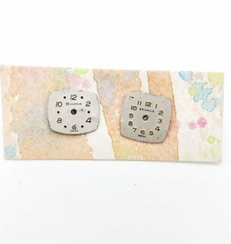 Fun Junk Watch Face Post Earrings - Fun Junk