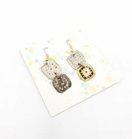 Fun Junk Watch Face Dangle Earrings - Fun Junk