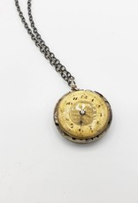 Redux Antique Watch Face and Movement Under Resin Necklace