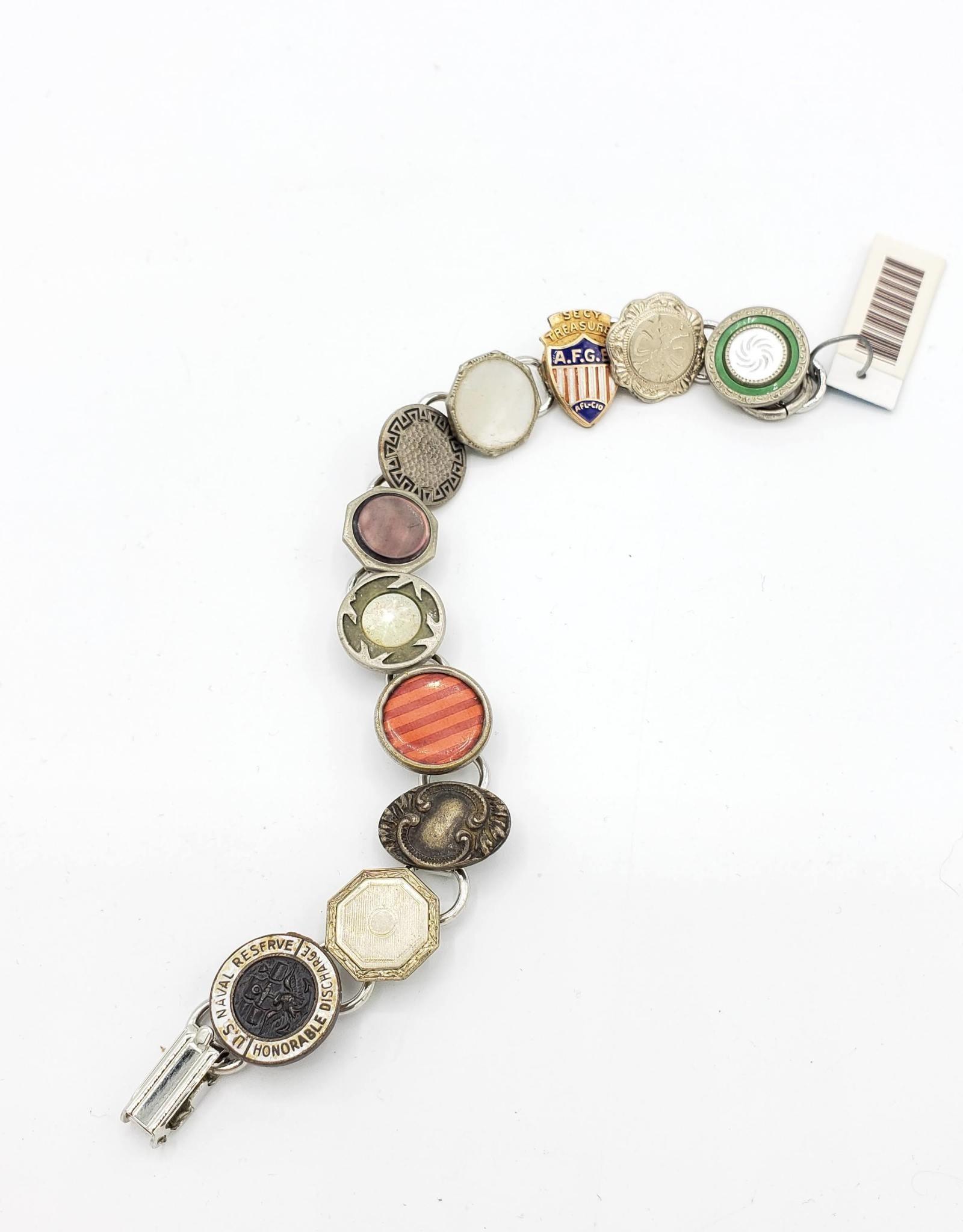 Fun Junk Upcycled Vintage Cufflink Bracelet