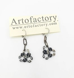 Car Parts Earrings, Steel Retaining Ring Trio - Artofactory