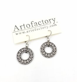 Ball Bearing Washer Earrings - Artofactory