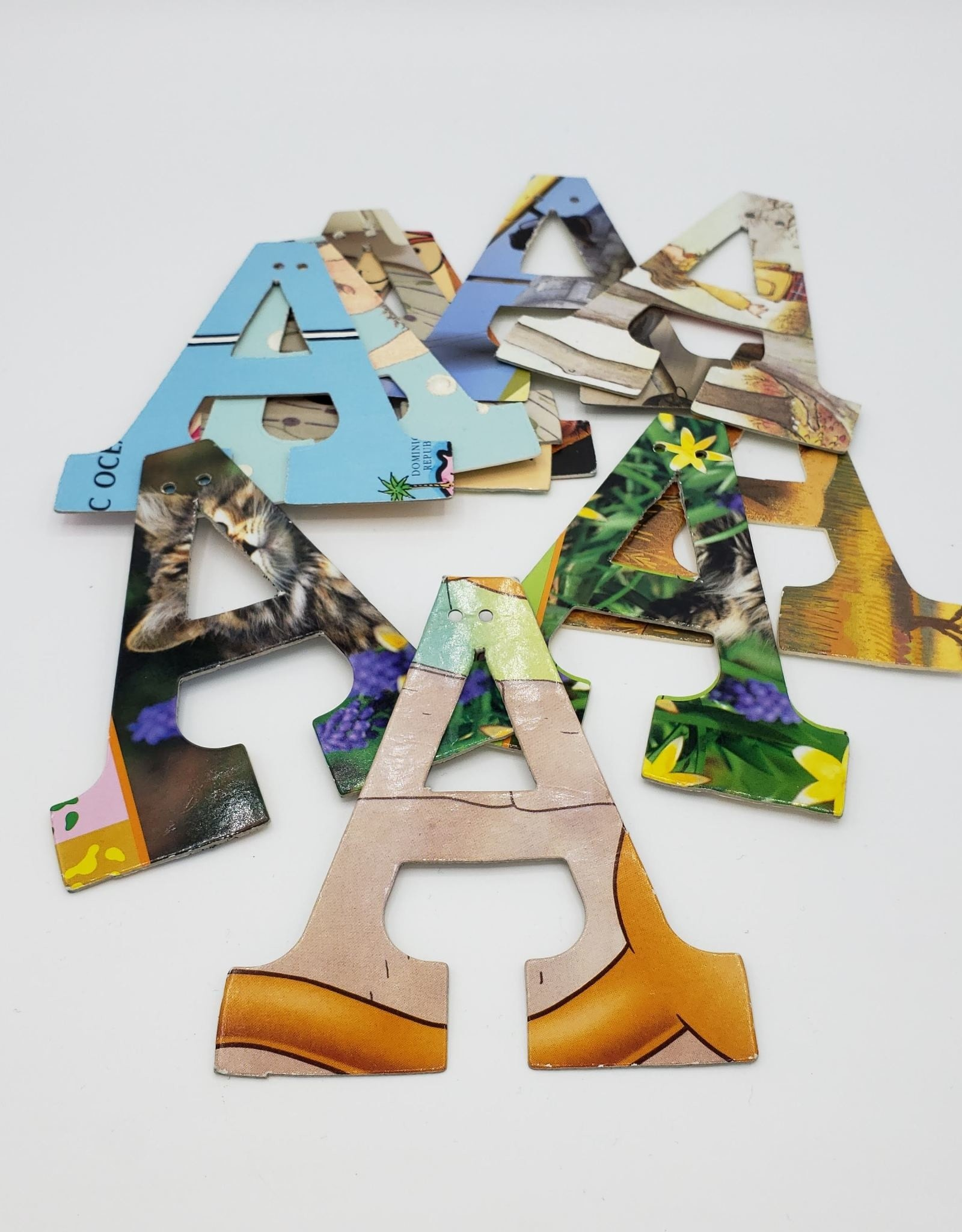 Attic Journals Garland Letters (A-I) - Recycled Books - Attic Journals