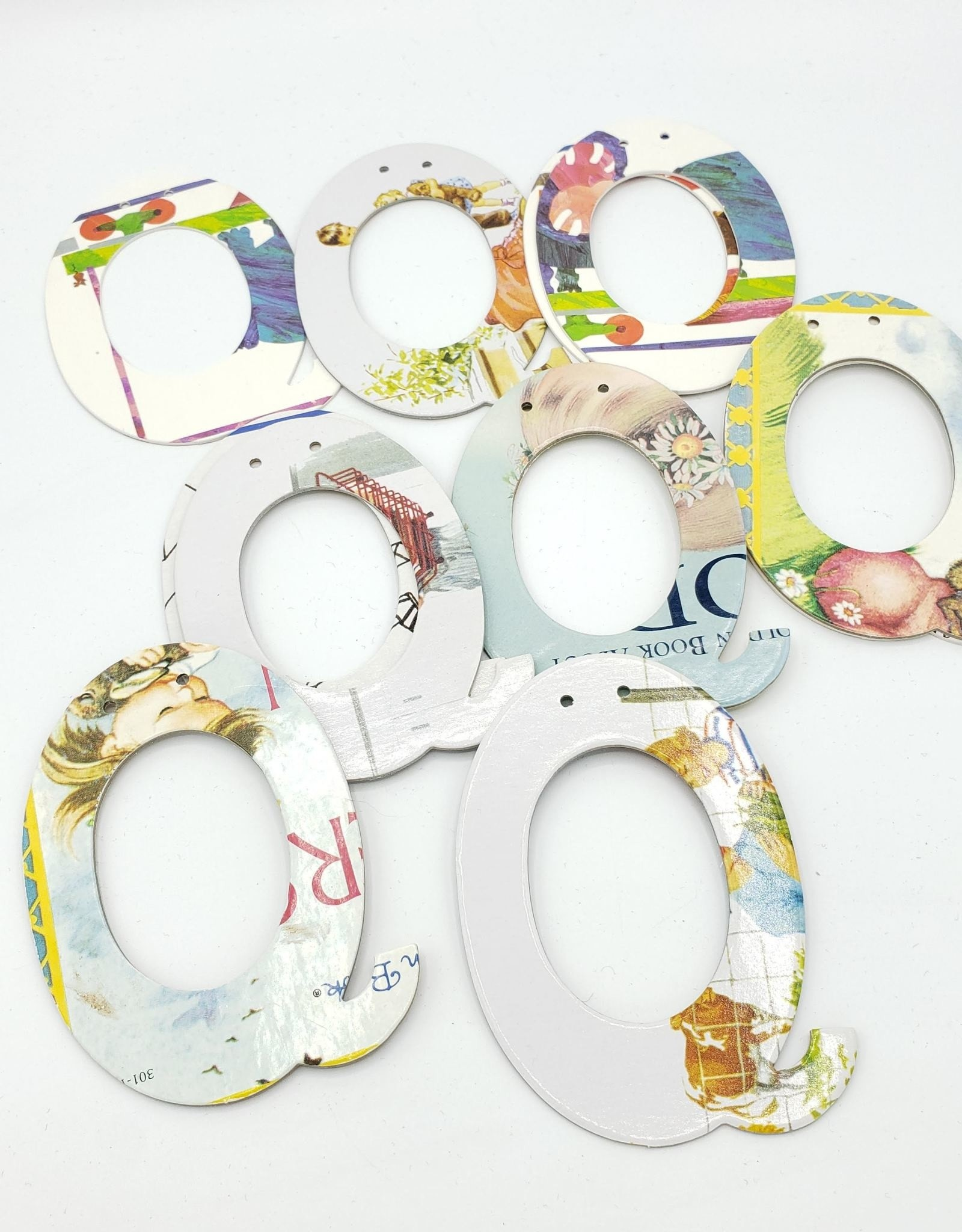 Attic Journals Garland Letters (J-R) - Recycled Books - Attic Journals
