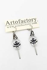 Steel Nail, Rubber & Retaining Ring Earrings - Niobium Ear Wires by Artofactory