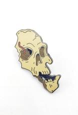 Buried Skull Enamel Pin