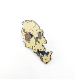 Buried Skull Enamel Pin