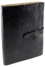 Black Leather Journal w/ Strap