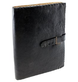 Black Leather Journal w/ Strap