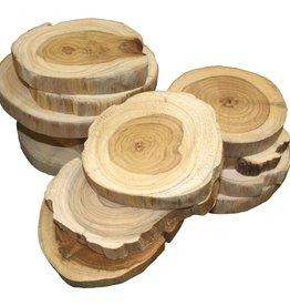 Teak Wood Slice Coaster