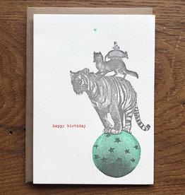 Tiger Birthday Greeting Card - Lark Press