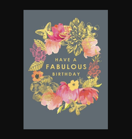"""Have a Fabulous Birthday"" Greeting Card - Louise Tiler"