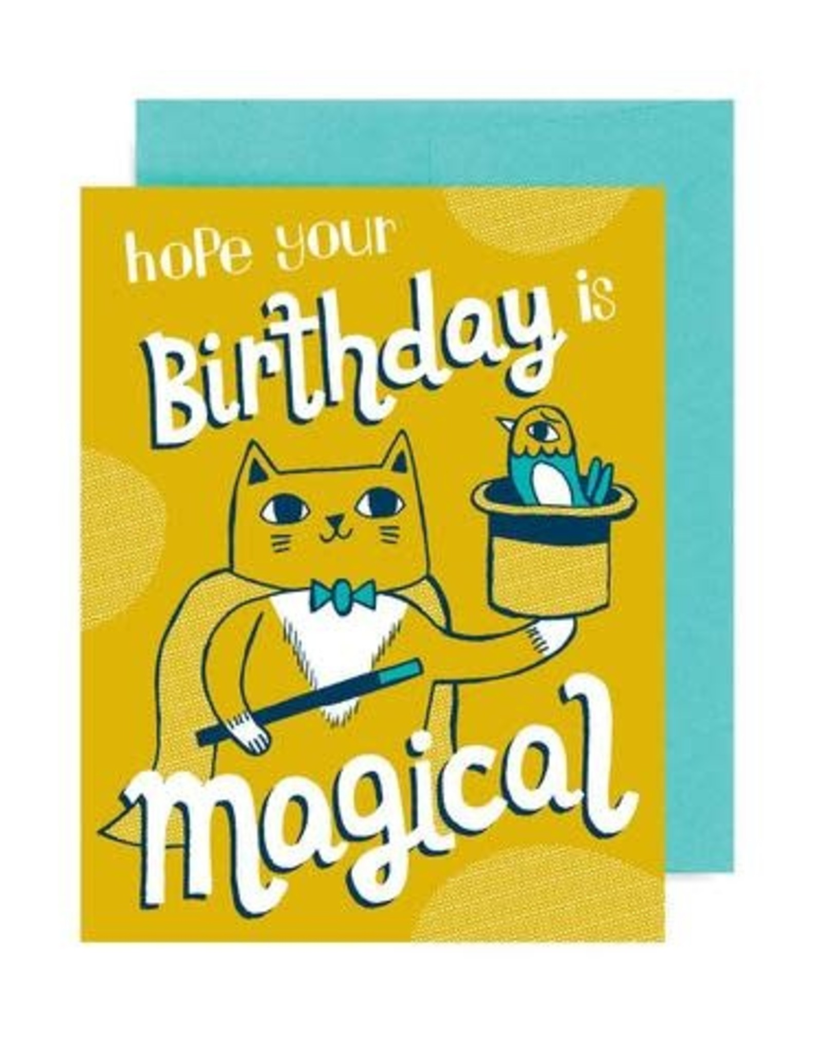 """Allison Cole """"Magical Cat"""" Birthday Greeting Card - Allison Cole"""