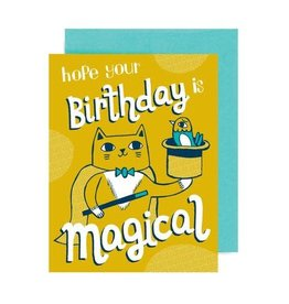 "Allison Cole ""Magical Cat"" Birthday Greeting Card - Allison Cole"