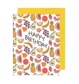 Allison Cole Birthday Fruits Greeting Card - Allison Cole