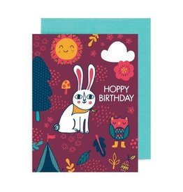 "Allison Cole ""Hoppy Birthday"" Greeting Card - Allison Cole"