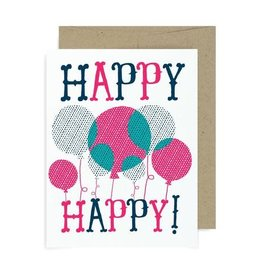 "Allison Cole ""Happy Happy"" Birthday Greeting Card - Allison Cole"