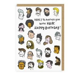 Hair Birthday Greeting Card - Hello Lucky
