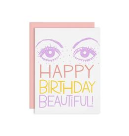 """Happy Birthday Beautiful"" Greeting Card - The Good Twin"