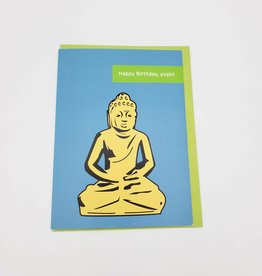 """Namaste"" Birthday Greeting Card - Selfish Kitty"