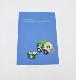 """""""Recycled & Recyclable"""" Birthday Greeting Card - Selfish Kitty"""