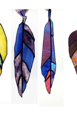 Redux Stained Glass Feather - Deep Purples
