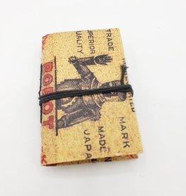 Vintage Matchbox Label Mini Journals w/tie