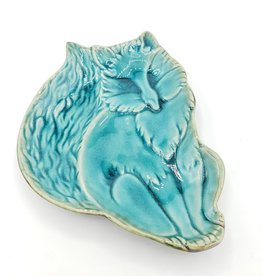 Ceramic Tray - Sweet Fox, Aqua