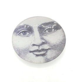 Moon Face Glass Tray