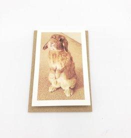Bunny Mini Greeting Card  - Modern Lore