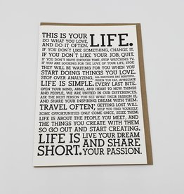 """Life Manifesto"" Greeting Card - Holstee"