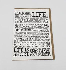 """Life Manifesto"" Greeting Card - Holstee"