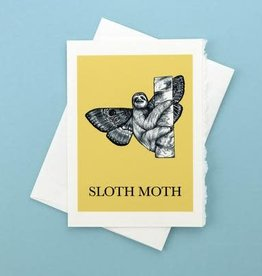 Sloth Moth Greeting Card - What If Creations