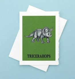 Tricerahops Greeting Card - What If Creations