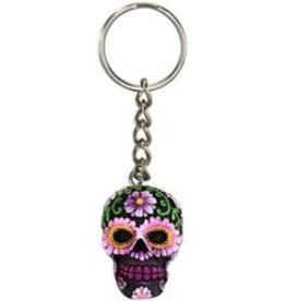 Sugar Skull Calaveras Keychain
