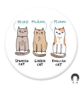 Badgebomb International Cats Big Magnet