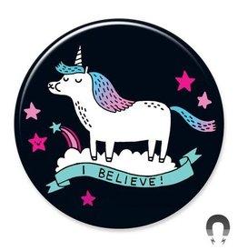 Badgebomb Believe Unicorn Big Magnet
