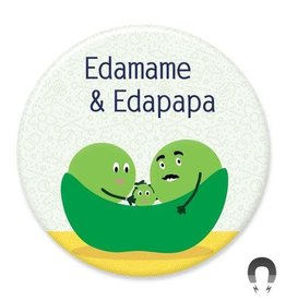 Badgebomb Edamame & Edapapa Big Magnet