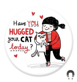 Badgebomb Hug Your Cat Big Magnet