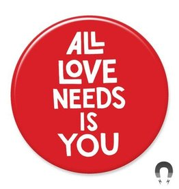 Badgebomb All Love Needs is You Big Magnet