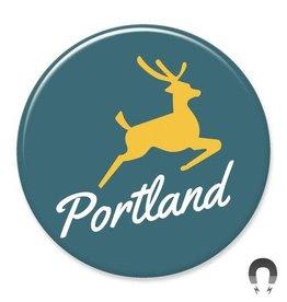 Badgebomb Portland Stag Big Magnet
