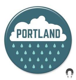 Badgebomb Portland Rain Big Magnet