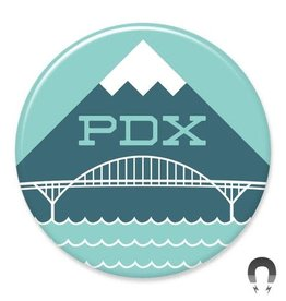 Badgebomb PDX Hood Bridge Big Magnet