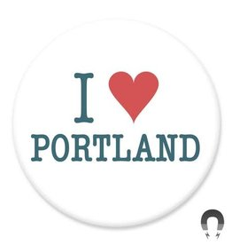 Badgebomb I Heart Portland Big Magnet