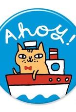 Badgebomb Ahoy Cat Big Magnet