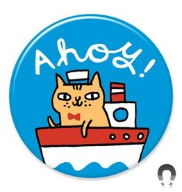 Badgebomb Ahoy Cat Big Magnet