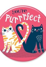 Badgebomb You're Purrfect Big Magnet