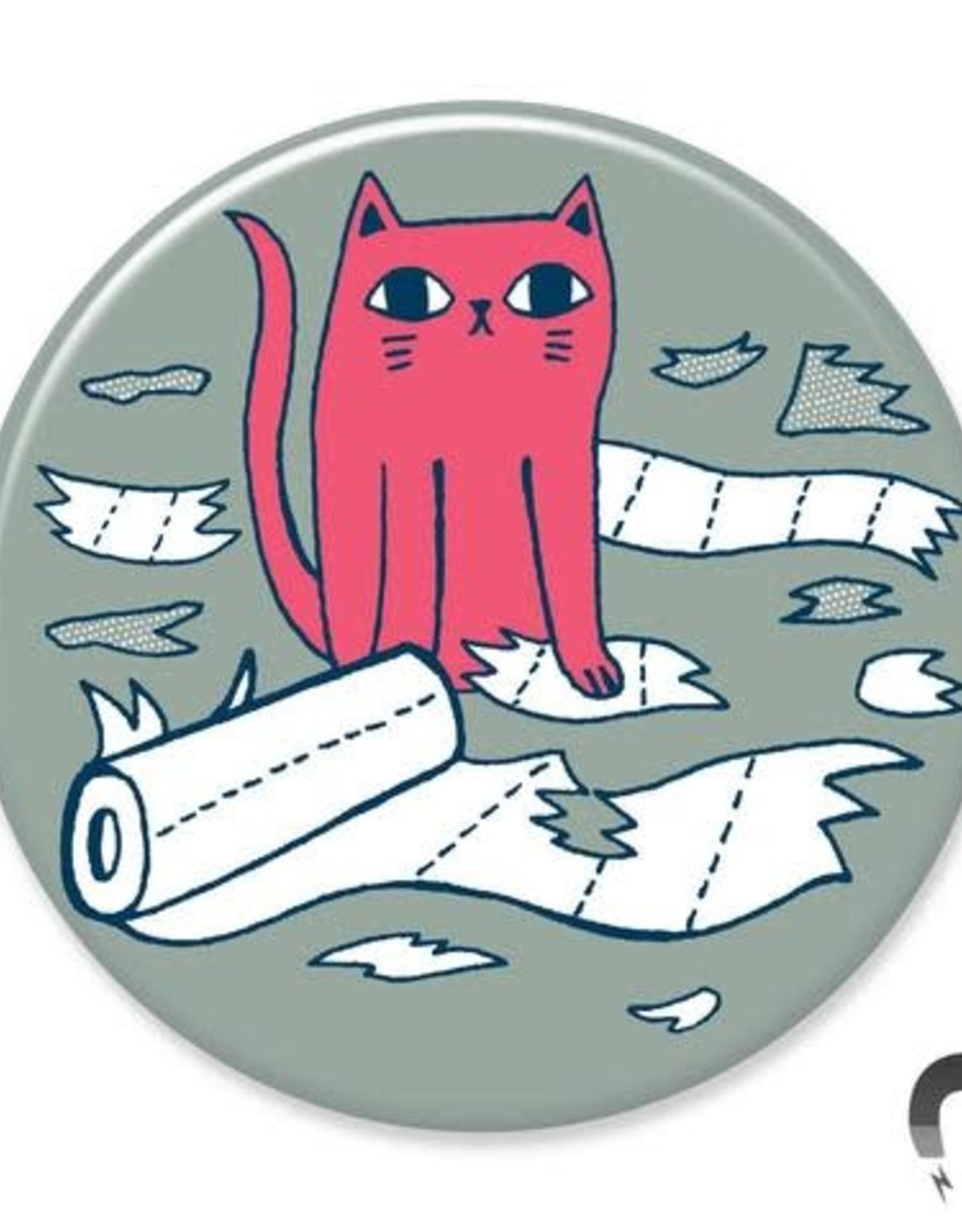 Badgebomb Toilet Paper Cat Big Magnet
