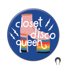 Badgebomb Closet Disco Queen Big Magnet